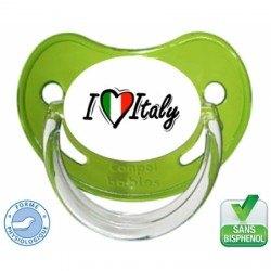 Tétine bébé i love Italy