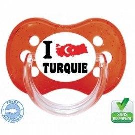 Tétine bébé i love Turquie