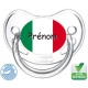 Tétine bébé drapeau de l'Italie