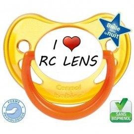 Sucette bébé I love le rc lens