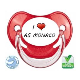 Sucette bébé I love l'AS MONACO
