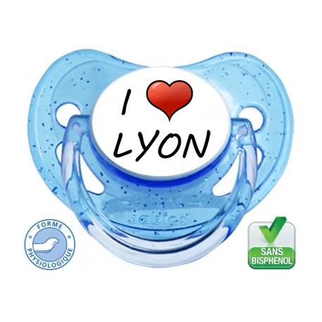 Tétine bébé I love Lyon