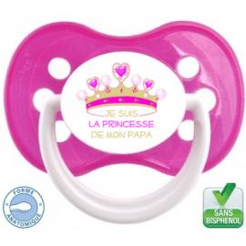 Sucette bébé je suis la princesse de mon papa