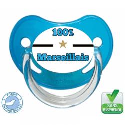 Sucette bébé 100% Marseillais(e)