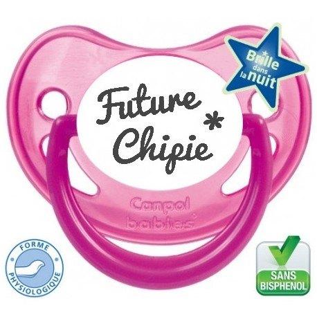 """Tétine pré-imprimée """"Future chipie """""""