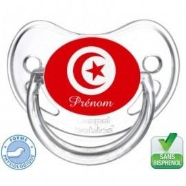Tétine bébé drapeau Tunisie