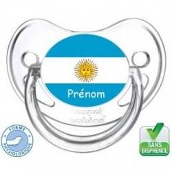 Tétine bébé drapeau Argentine