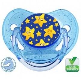 Tétine bébé motif étoile