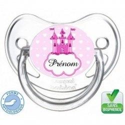 Tétine bébé personnalisée Château de princesse