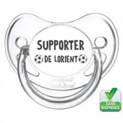 Tétine bébé supporter de Lorient