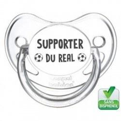 Tétine bébé supporter du Real Madrid
