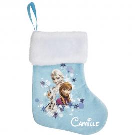 Chaussette de Noel Reine des neiges avec prénom