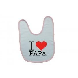 Bavoir personnalisé i love papa