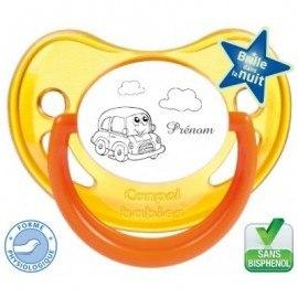 Tétine bébé personnalisé avec une voiture