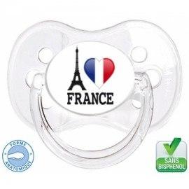 Sucette bébé i love France