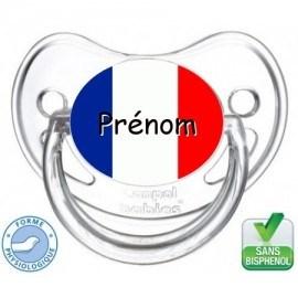 Tétine bébé drapeau France