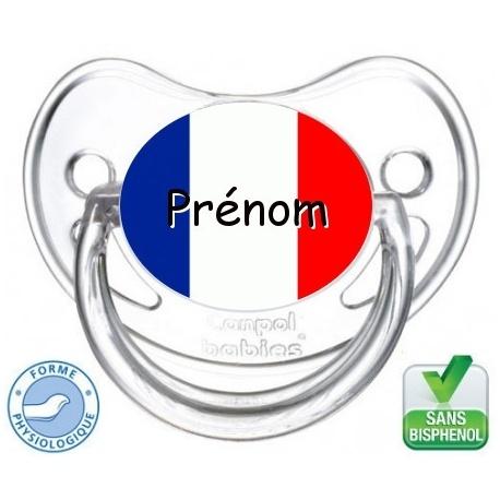 sucette bébé drapeau France