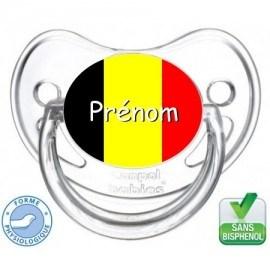 Tétine bébé drapeau de la Belgique
