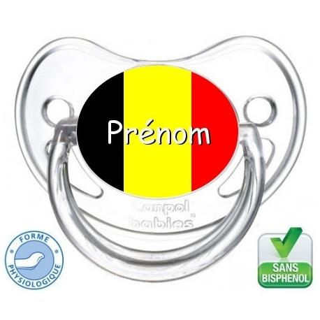 sucette bébé drapeau de la Belgique