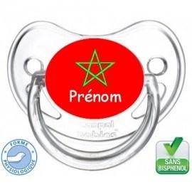 Tétine bébé drapeau du Maroc