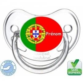 Tétine bébé drapeau du Portugal
