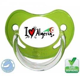 Tétine bébé drapeau algérie