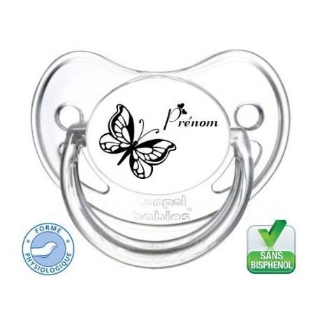 Tétine bébé logo papillon