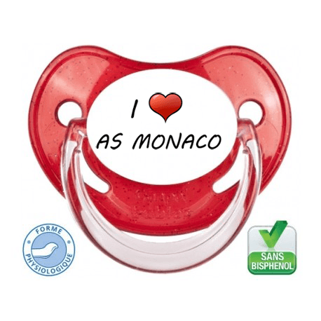 Tétine bébé I love l'AS MONACO