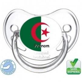 Tétine bébé drapeau de l'Algérie