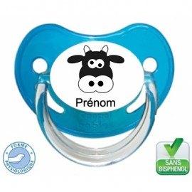 Tétine bébé personnalisée vache