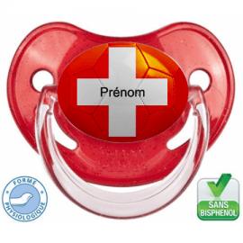 Sucette bébé ballon foot Suisse