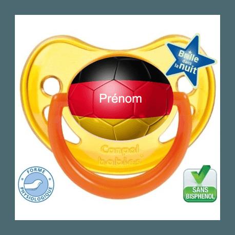 Sucette bébé ballon foot Allemagne