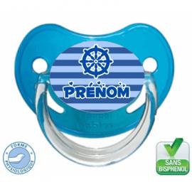 Sucette bébé personnalisée marin