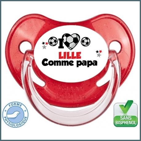 Tétine personnalisée club Lille