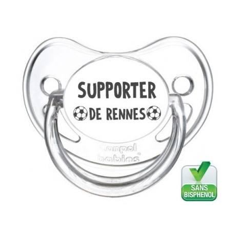 Tétine bébé supporter de Rennes