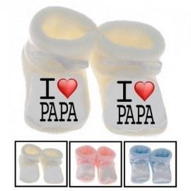 Chaussons bébé I love papa