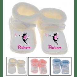 Chaussons bébé personnalisés fée baguette prénom