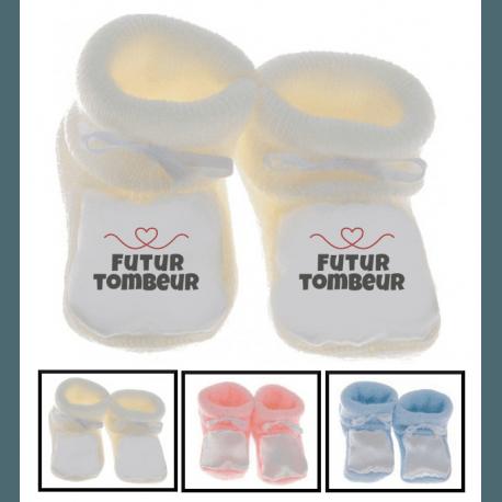 Chaussons bébé futur tombeur