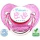 Tétine personnalisée main de bébé et prénom