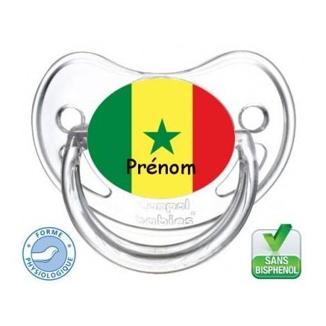 Tétine bébé drapeau Senegal
