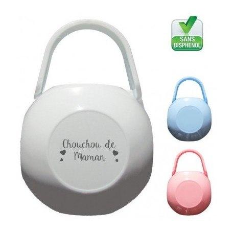 Boite à tétine personnalisée Chouchou de maman