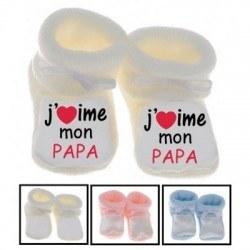 Chaussons bébé J'aime mon papa