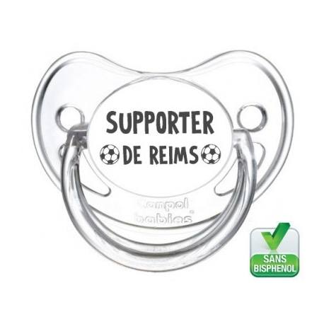Tétine bébé supporter de Reims