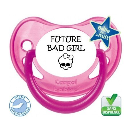 "Tétine personnalisée ""Future bad girl"""