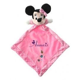 Doudou personnalisé Minnie rose