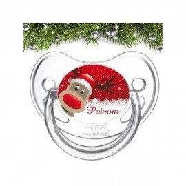 Tétine personnalisée Joyeux Noel et bonne année
