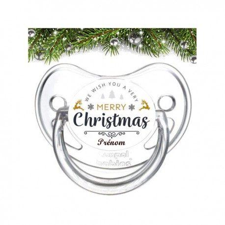 Tétine personnalisée merry Christmas
