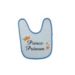 Bavoir bébé personnalisé prince prénom