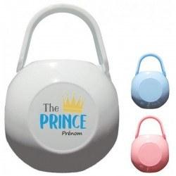 Boite à tétine personnalisée the prince et prénom