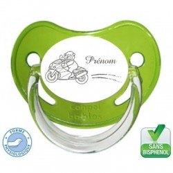 Tétine bébé personnalisé avec une moto
